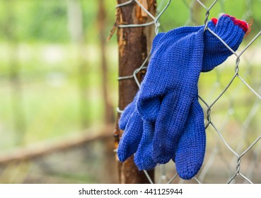 Blue glove for labor at 