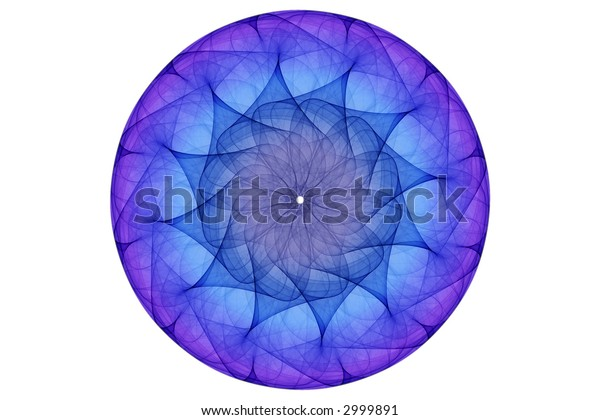 blue glowing orb