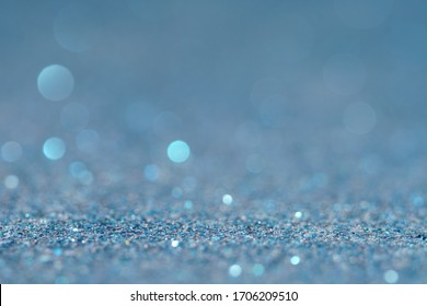 blue of golden glitter abstract background
