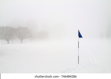 Blue Golf Flag