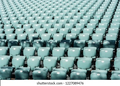 blue grandstand seats