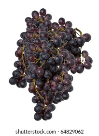 blue grape cluster on a white background