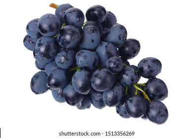 blue grape isolated on a white. Food