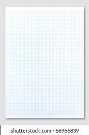 Blue graph paper.