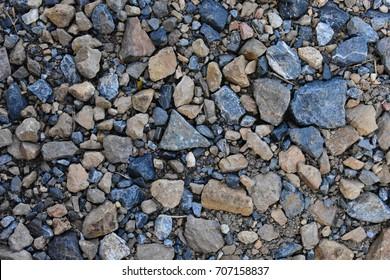 Blue gravel background