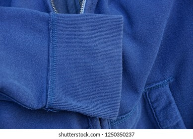 blue gray fabric texture of clothes with sleeves