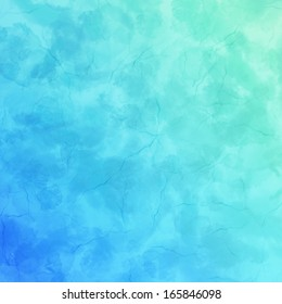 Blue and green background with a cracked texture
