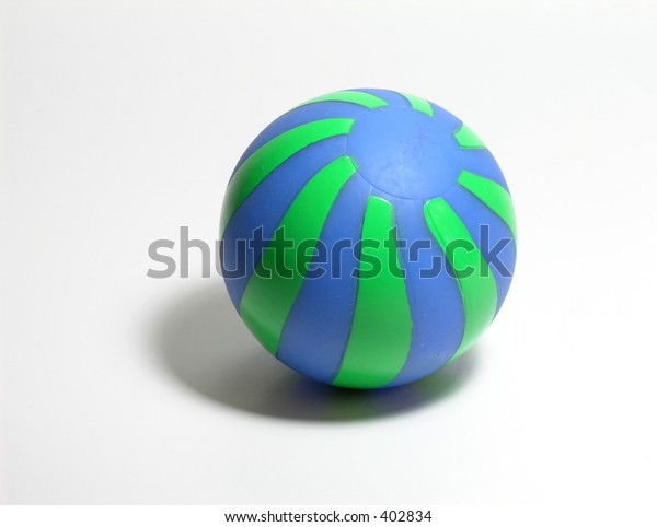 Blue Green ball with shadow