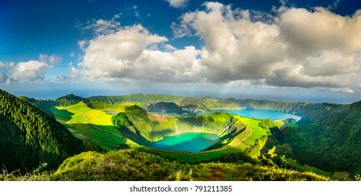 The Blue and Green Lakes, Azores