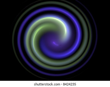 blue and green swirl