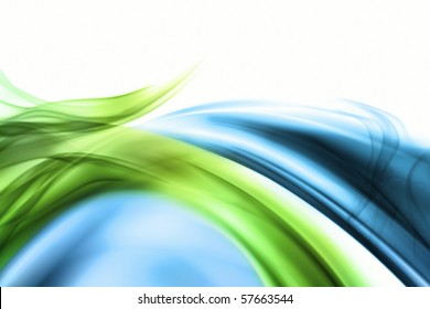 blue and green wave with smoke for background