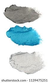 blue and grey cream eyeshadow isolated on white background