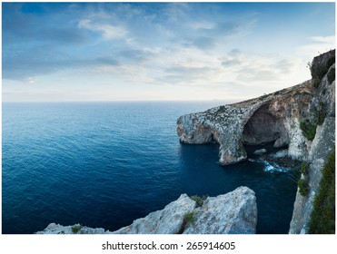 The Blue Grotto.