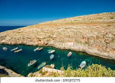 Blue Grotto boats, Malta