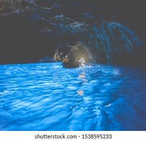 Blue Grotto at Capri island