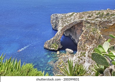 The Blue Grotto on the island of Malta