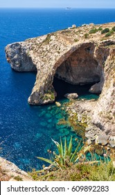 Blue Grotto - one of nature landmarks on Malta island