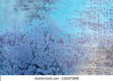 Blue grunge background. Dust Overlay and  Distress Background with scratches. Artistic Dark messy wallpaper.