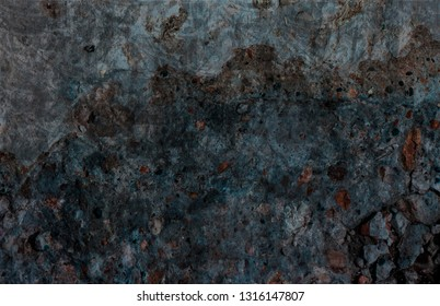 Blue grunge cement abstract background