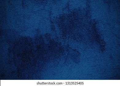 Blue Grunge Concrete Wall Texture Background.