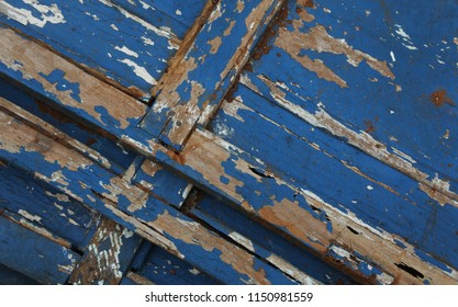 blue grunge wood texture background