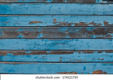 blue Grunge wooden background
