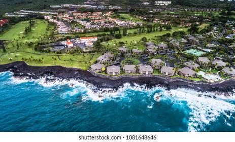 Blue Hawaii Kailua Kona Aerial View