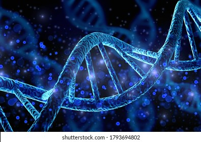 Blue helix human DNA structure