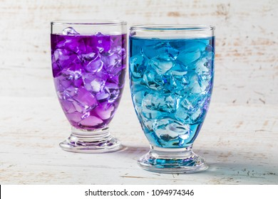 Blue herbal tea(Blue mallow and Butterfly pea)