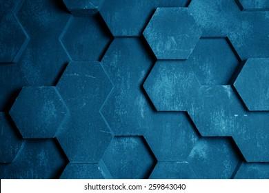 Blue Hexagon Background Texture
