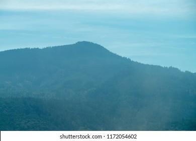Blue hills near Eugene Oregon from interstate 5