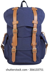 blue hipster backpack