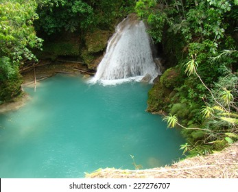 Jamaica Blue Lagoon Temaju Kepek Stockfotok Es Vektorkepek