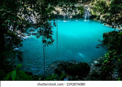 The Blue Hole in Ocho Rios Jamaica