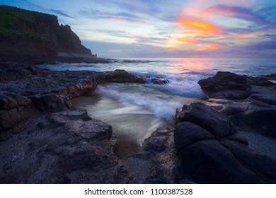 Blue Hour at Cap La Houssaye Saint Paul in Reunion Island