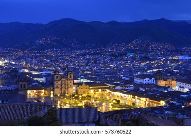 Blue Hour Over the City - January 2017 - Cusco, Peru