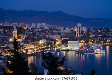 Blue Hour Over the Old Town- July 2017 - Split, Croatia