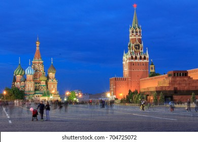 Blue hour in Red Square, Moscow