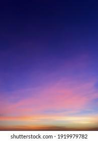Blue Hour Sky Before Sunrise