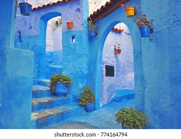 Blue house of Chefchaouen, Morocco