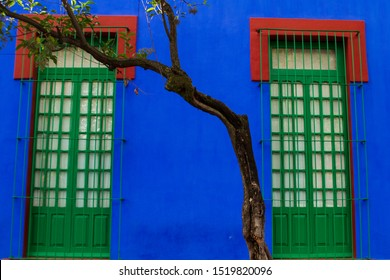 The blue house of Frida Khalo in Mexico City