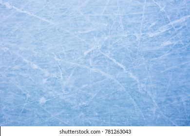 blue ice background with marks from skating / skating rink background