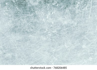 Blue ice as background, ice  with snow texture