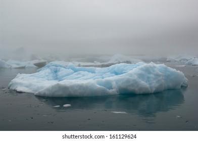 The Blue Ice Bergs in Narsarsuaq Greenland