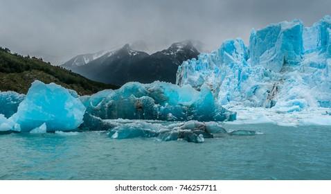 Blue ice detail in Perito Moreno glacier, Argentina