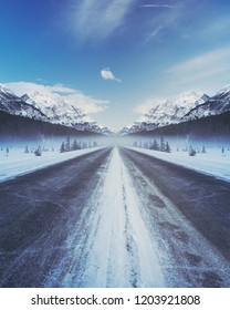 blue ice road