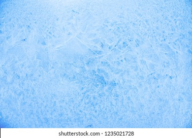 Blue Ice Texture Background with Crystal Surface Bright winter nature closeup for christmas design