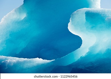 Blue iceberg frozen ice detail abstract texture patter background