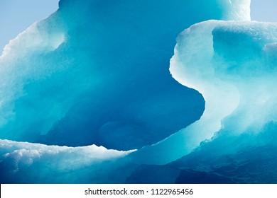 Fondo abstracto de textura abstracta de hielo helado azul iceberg