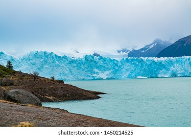 Blue iceberg of Perito Moreno Glacier and Argentina Lake at Los Glaciares National Park in Argentina Patagonia